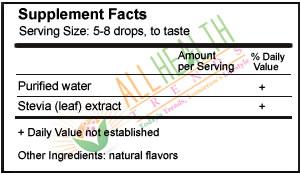 Stevia Clear Liquid Stevia Supplement Facts