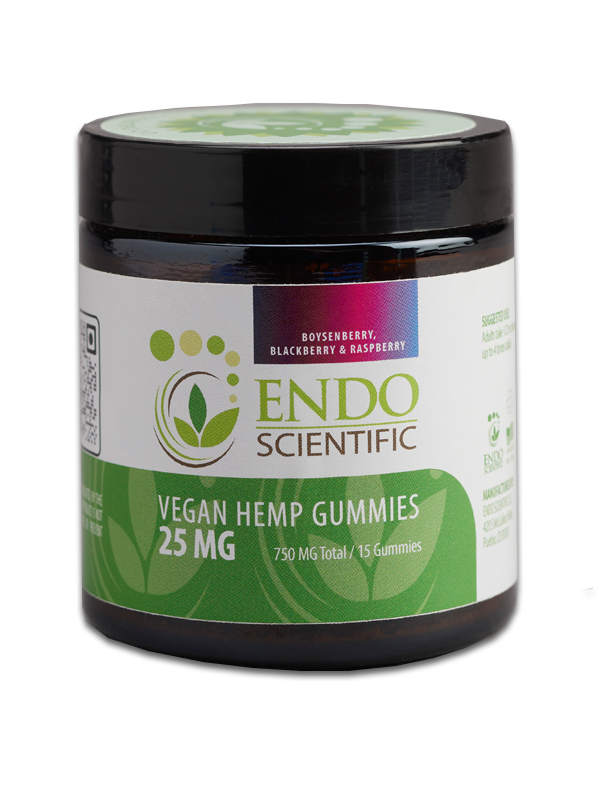 Endo Scientific Vegan Hemp Gummies, 15 Gummies