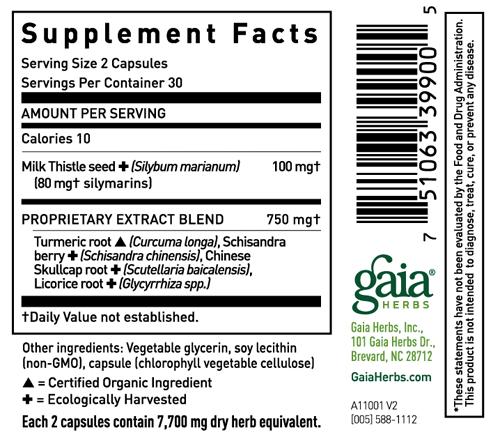 Gaia Herbs Liver Health Sup Facts