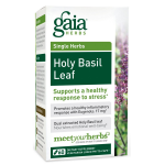 CLEARANCE - Gaia Herbs Holy Basil Leaf, 60 Caps  Exp  07/17