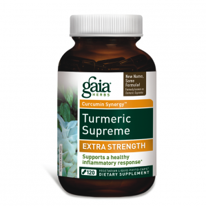 Gaia Herbs Turmeric Supreme Extra Strength, 120 Caps Value Size!