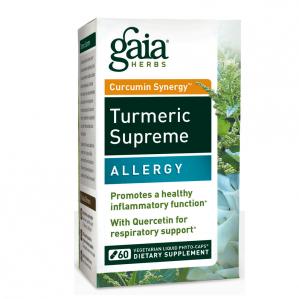 CLEARANCE - Gaia Herbs Turmeric Supreme Allergy, 60 VCaps  Exp 3/2018