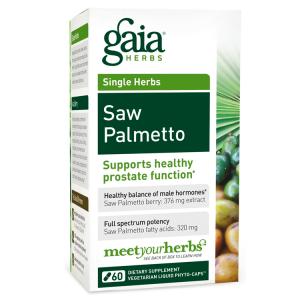 Gaia Herbs Saw Palmetto, 60 Caps