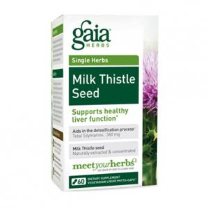 Gaia Herbs Milk Thistle Seed, 60 Caps