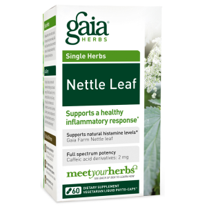 Gaia Herbs Nettle Leaf, 60 Caps
