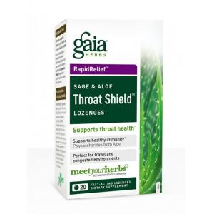 Gaia Herbs Throat Shield, 20 Lozenges