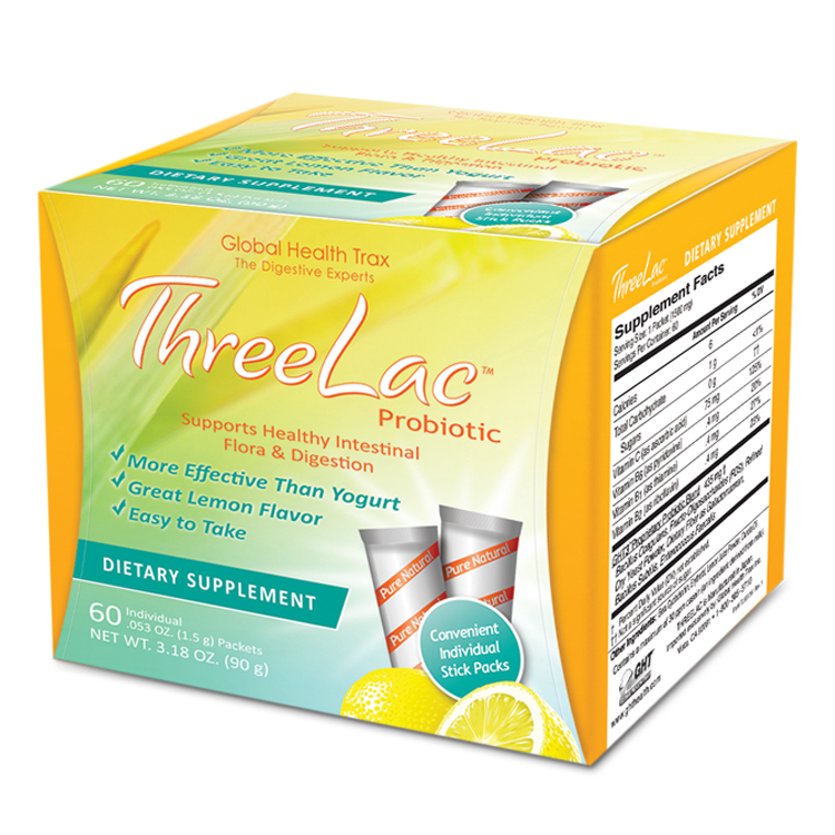 Global Health Trax ThreeLac Probiotic, 60 Pkts