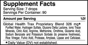 Oxygen Elements Max, 1 fl. oz., Supplement Facts