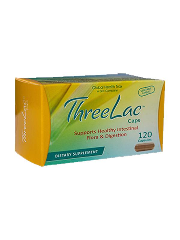 Global Health Trax ThreeLac Probiotic, 120 Capsules