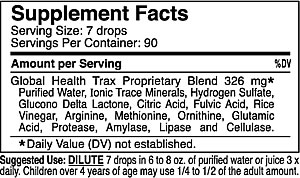 Oxygen Elements Max, 1 fl. oz., Supplement Facts