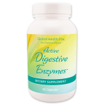 *Clearance* Global Health Trax Active Digestive Enzymes, 90 VCaps Exp 2/2018