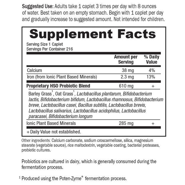 Primal Defense Caplets, Supplement Facts