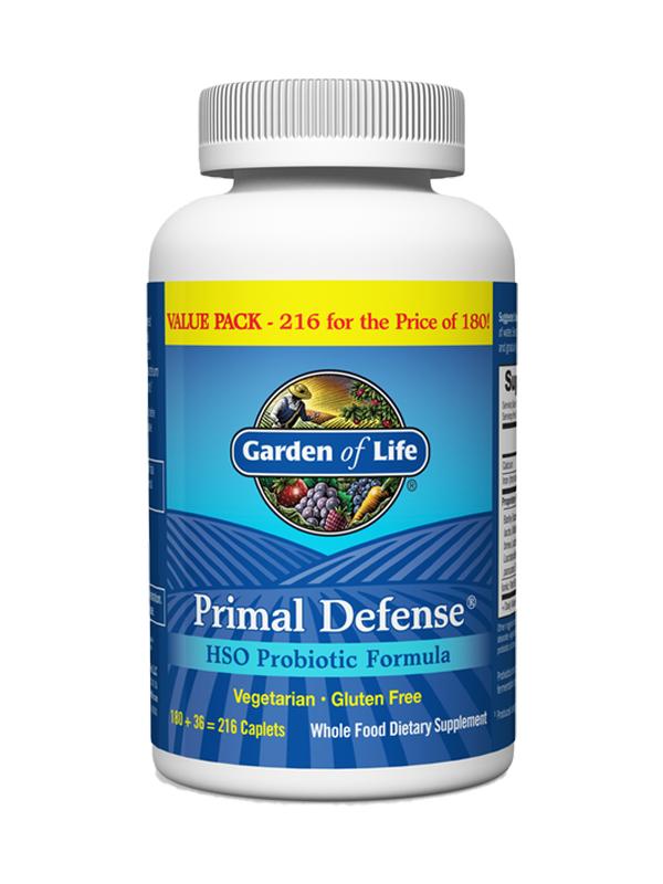Garden of Life Primal Defense, 216 Caps VALUE SIZE!!