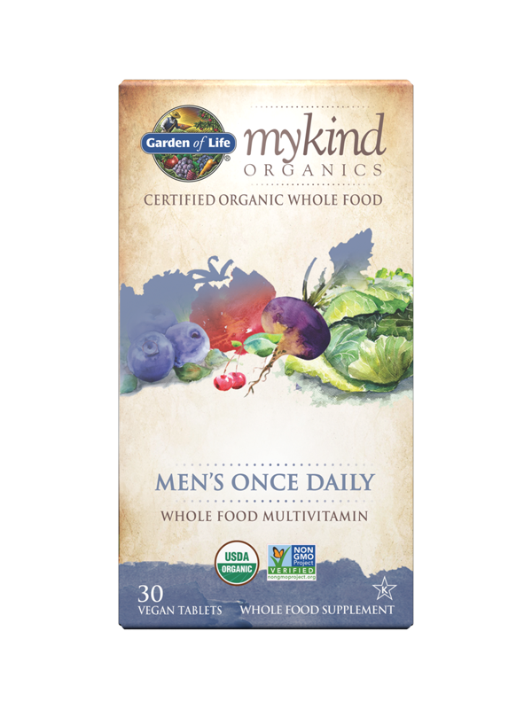 mykind Organics Men's Once Daily, 30 Count