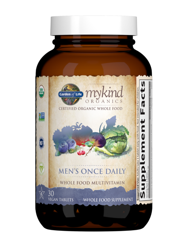 mykind Organics Mens Once Daily, 30 Count