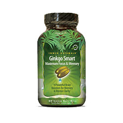 Irwin Naturals Ginkgo-Smart Maximum Focus And Memory, 60 Softgels