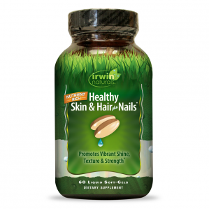 Irwin Naturals Healthy Skin and Hair Plus Nails, 60 Softgels