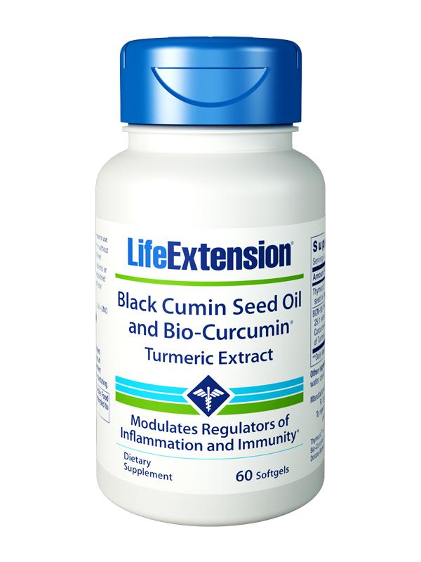 Life Extension Black Cumin Seed Oil and Bio-Curcumin® Turmeric Extract, 60 Softgels