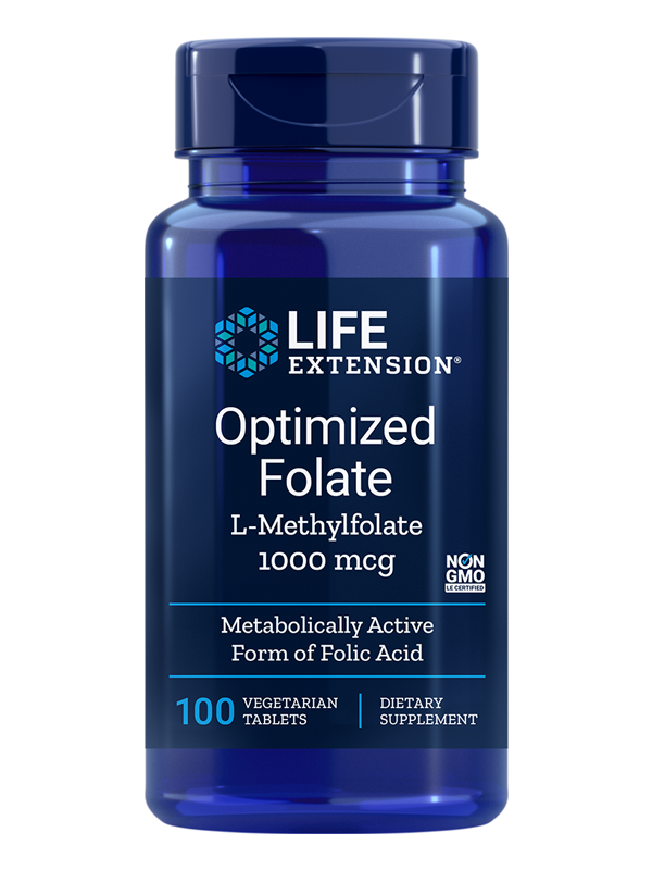 Life Extension Optimized Folate, 100 VTabs