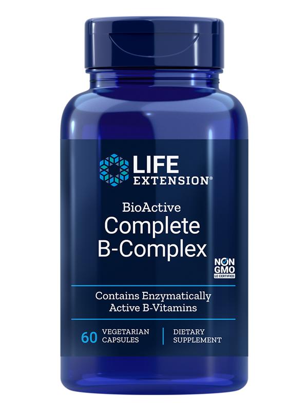 Life Extension BioActive Complete B-Complex, 60 VCaps