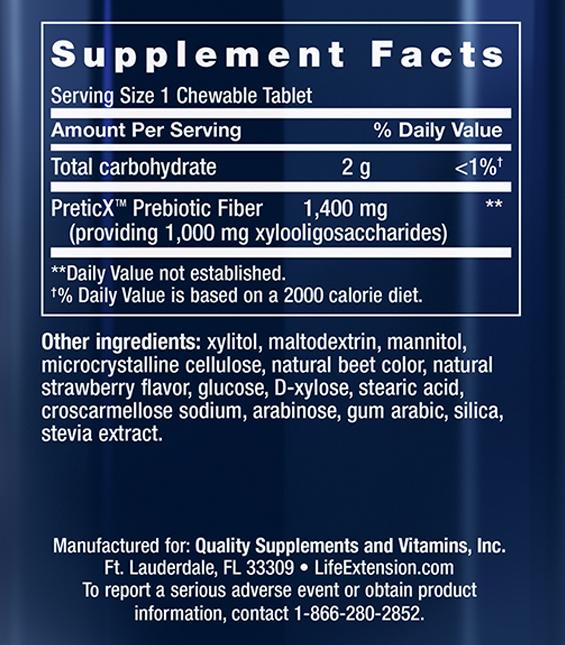 Florassist Prebiotic Supplement Facts