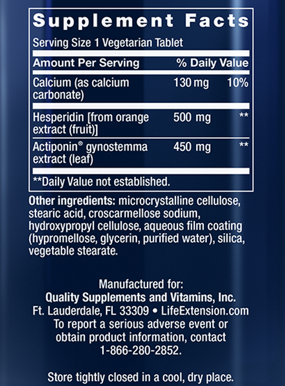 AMPK Metabolic Activator Supplement Facts Panel