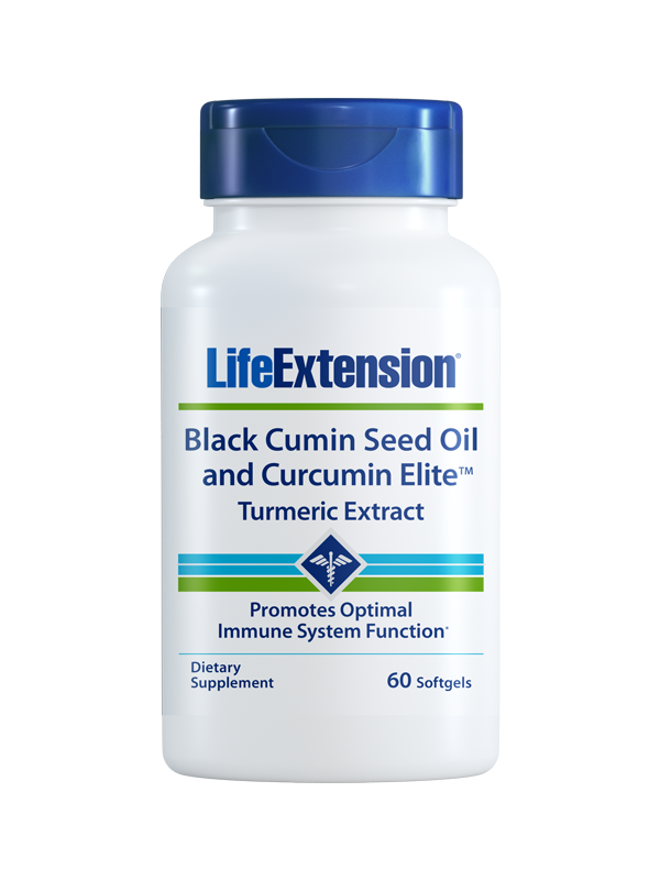 Life Extension Black Cumin Seed Oil & Curcumin Elite Tumeric Extract, 60 Softgels