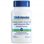 Life Extension Black Cumin Seed Oil & Curcumin Elite Tumeric Extract, 60 Softgels