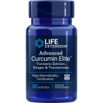 Life Extension Advanced Curcumin Elite Turmeric Extract Ginger & Turmerons, 30 Softgels