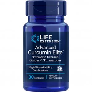 Life Extension Advanced Curcumin Elite Turmeric Extract Ginger & Turmerons, 30 Softgels