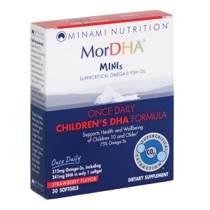 Minami Nutrition, MorDHA Minis Childrens DHA, 30 Softgels