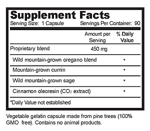 oregaresp P73, 30 vcaps, Supplement Facts
