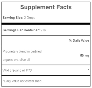 Oreganol P73, Super Strength Oil of Oregano .45 Supplement Facts