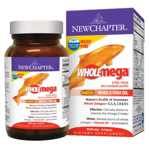 **CLEARANCE** New Chapter Wholemega 1000 mg, 120 Softgels  Exp 6/2017