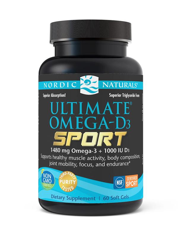 Nordic Naturals Ultimate Omega Sport D-3, 60 Softgels