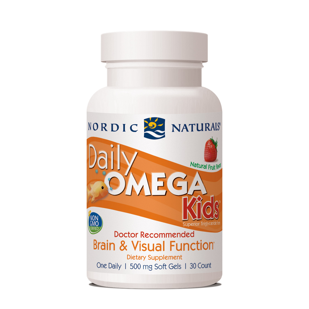 Nordic Naturals Daily Omega Kids, 30 Chewable Softgels