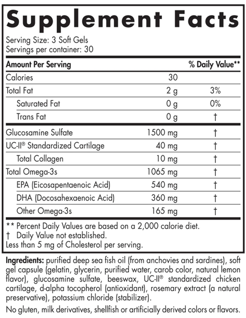 Nordic Naturals Omega Joint Xtra, Supplement Facts