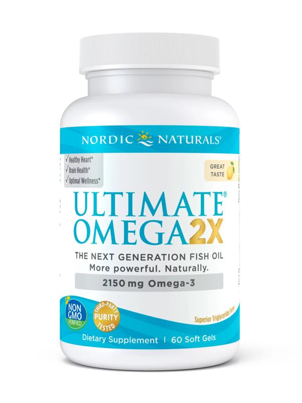 Nordic Naturals Ultimate Omega 2X, 120 Soft Gels