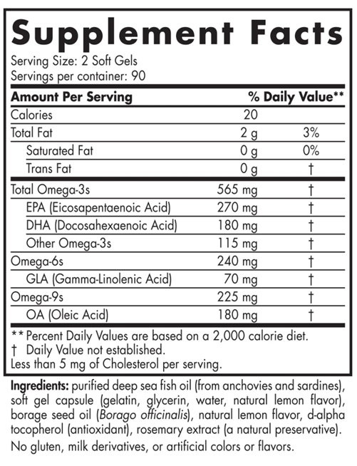Nordic Naturals Complete Omega, Supplement Facts
