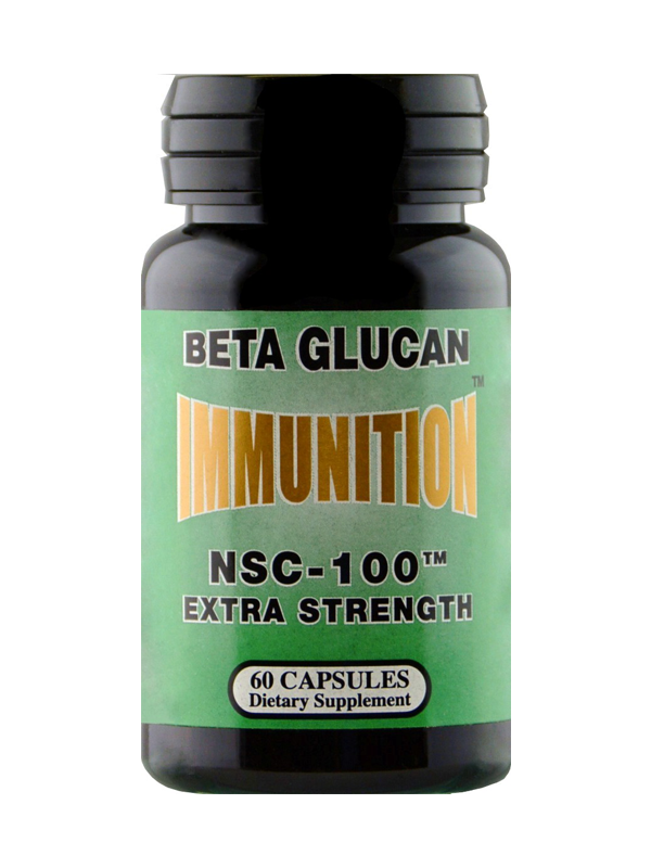 NSC-100 Beta Glucan Extra Strength, 60 Capsules With FREE probiotic Sample