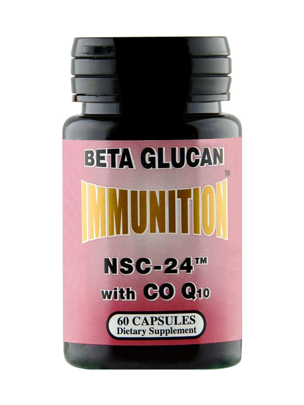 NSC-24 Beta Glucan with CoQ10, 60 Capsules