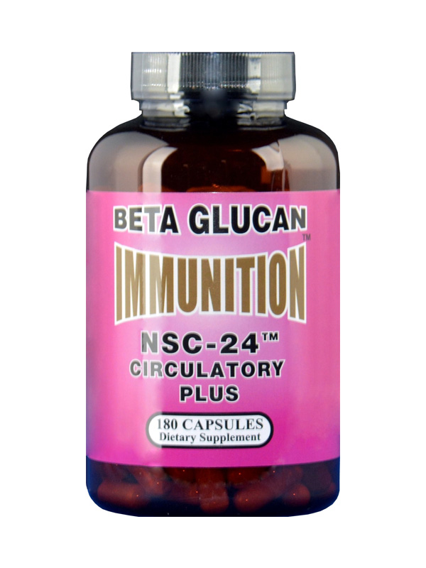NSC Beta Glucan Circulatory, 180 Count