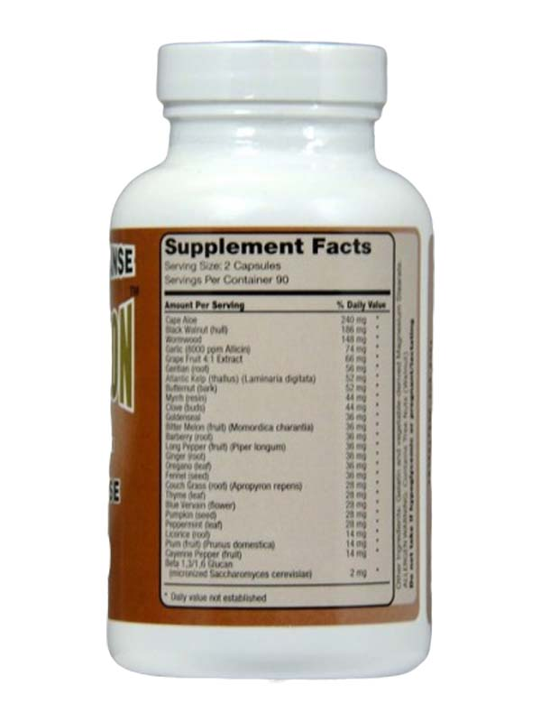 Immucleanse Supplement Facts
