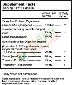 Probioactive 1B, Supplement Facts