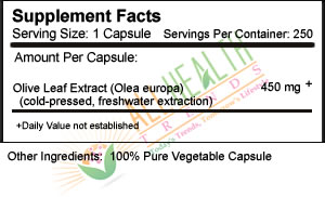 Seagate Olive Leaf Extract, 250 Vcaps