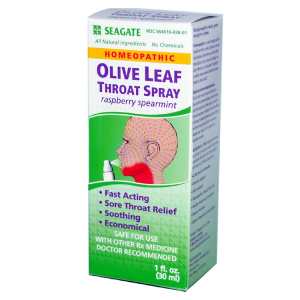 Seagate Olive Leaf Throat Spray Raspberry Spearmint, 1 fl. oz.
