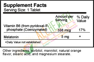Source Naturals Sublingual, Orange Supplement Facts