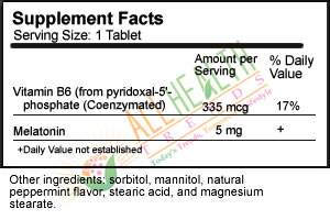 Source Naturals Sublingual Peppermint, Supplement Facts