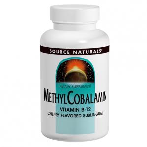 Source Naturals MethylCobalamin Vitamin B12 1mg Sublingual 120 Tabs